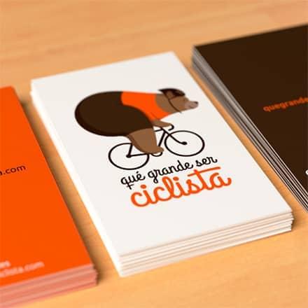 Página web y tienda online para Qué grande ser ciclista