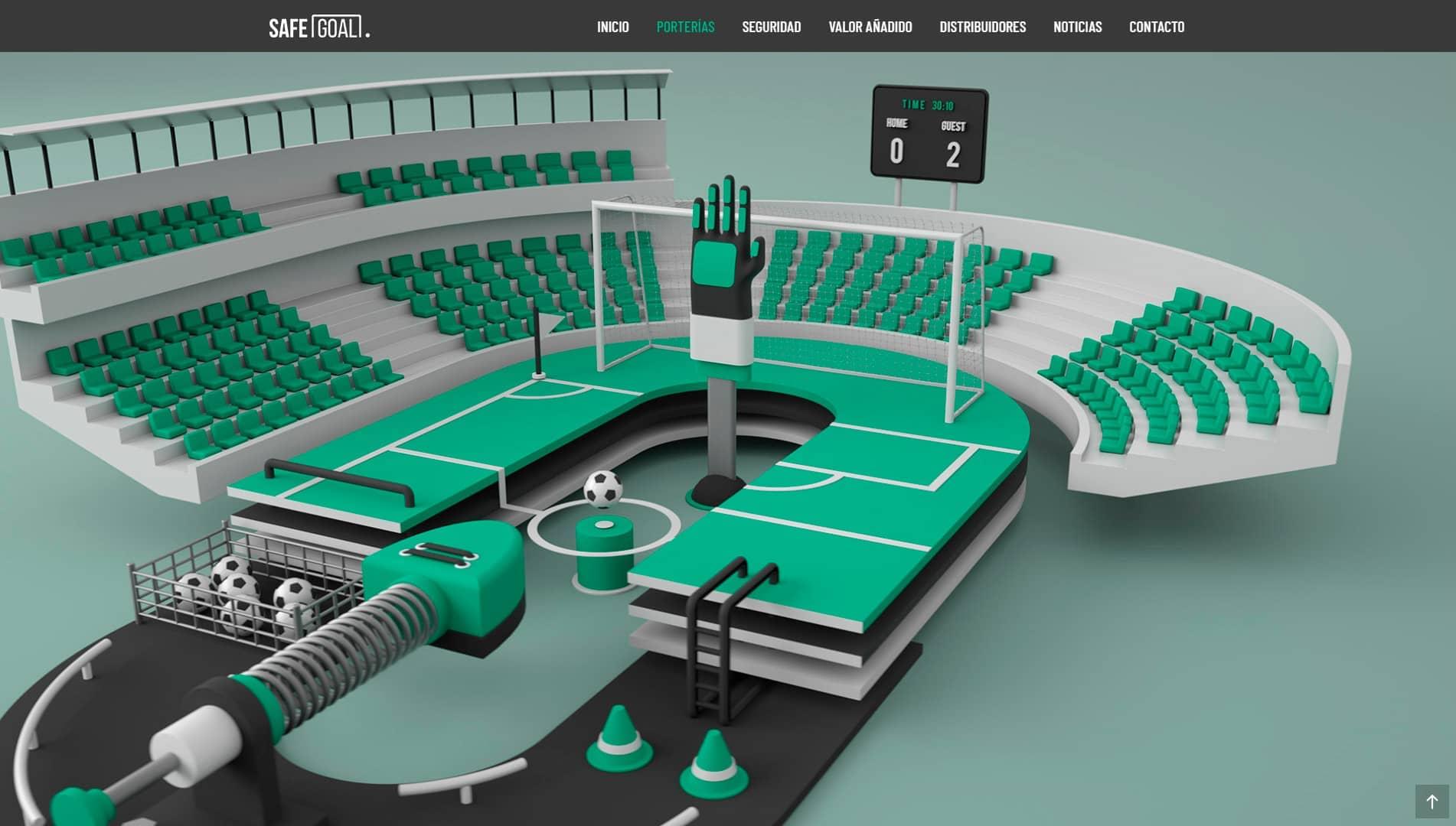 Diseño web corporativa y diseño gráfico para SafeGoal